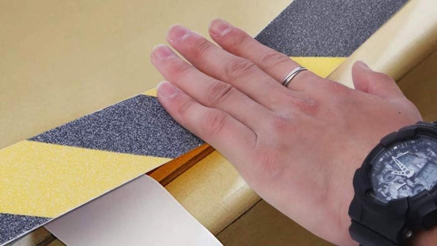 防滑胶带怎么贴不容易翘-厂家手把手教你【昆山玉寰】