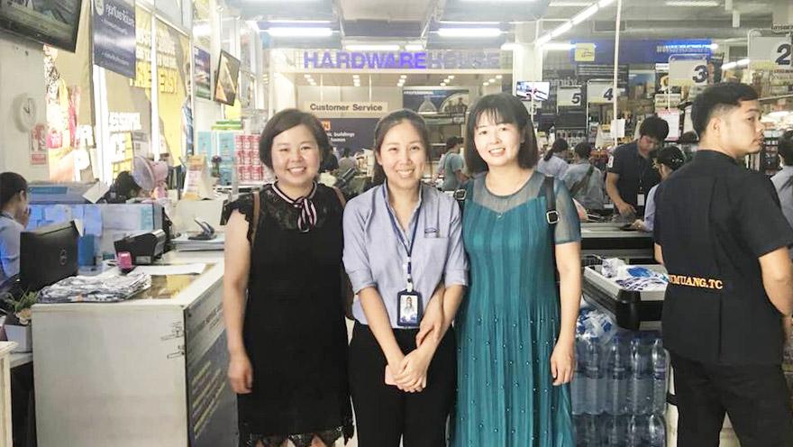 泰国五金工具连锁超市夜光胶带应用案例!