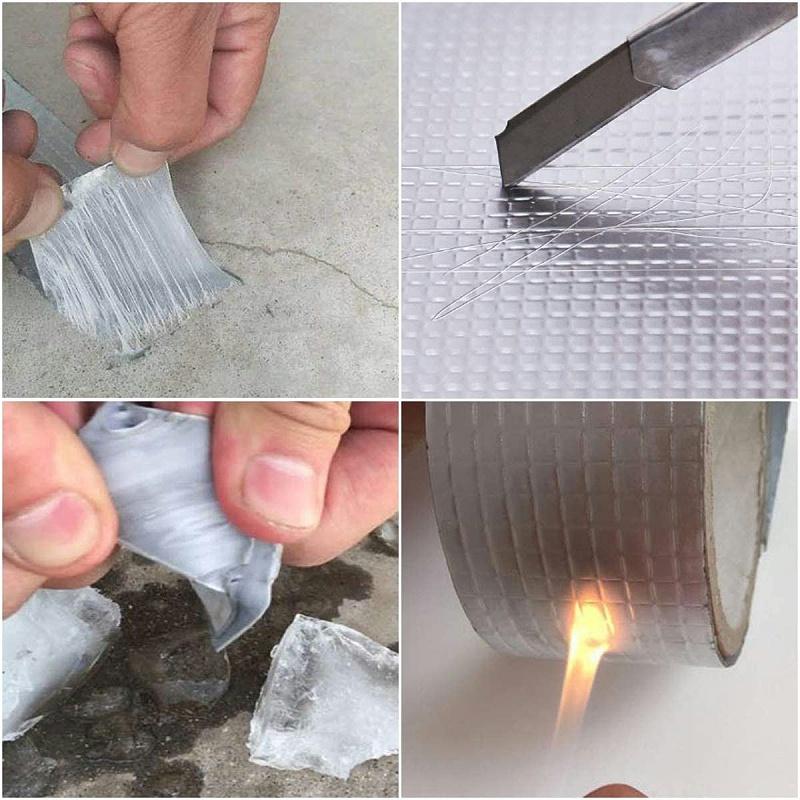 丁基铝箔防水胶带测试过程